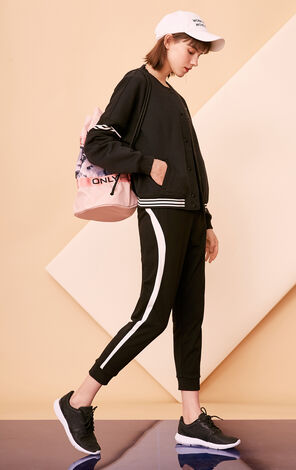 ONLY PLAY 2019 Women's Contrasting Splice Loose Fit Casual Pants |11811D505