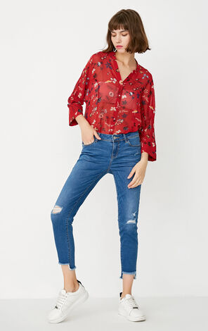 REPEAT VINCENT CHIFFON SHIRT