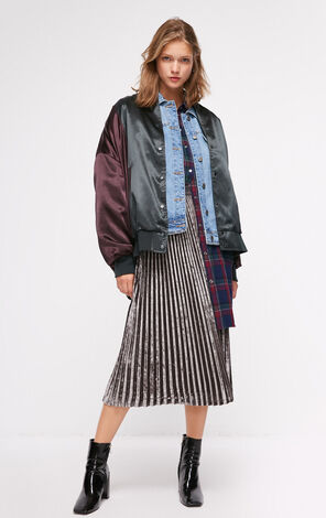 ONLY  2018 winter women's  new letter contrast color sequin jacket | 118336553