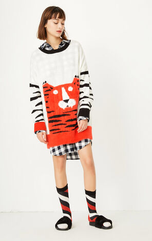 ONLY early autumn new product mohair striped cartoon loose knit sweater women | 117313514