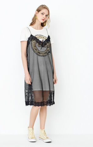 2019 ONLY women's spring new camisole lace skirt T-shirt two-piece dress | 117261538