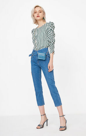 ONLY Summer Women's High-rise Straight Fit Slight Stretch Jeans|118149709