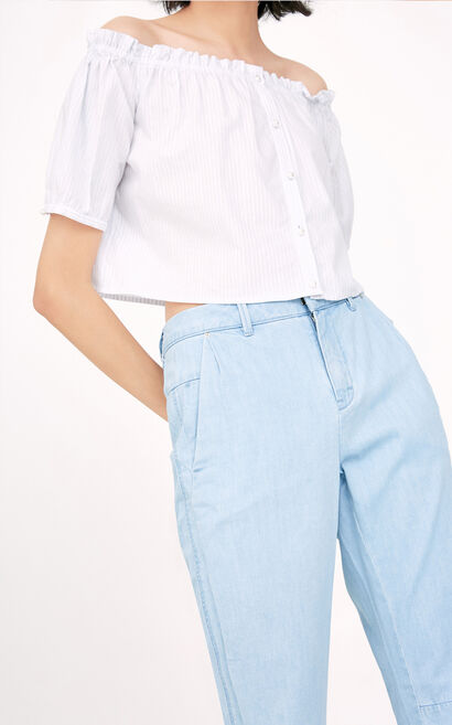 ONLY summer new loose mid-waist ankle jeans women | 117332511, Blue, large