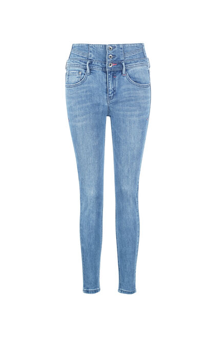 ONLY Women's Summer Three-button High-rise Crop Jeans |117249537, Blue Gray, large