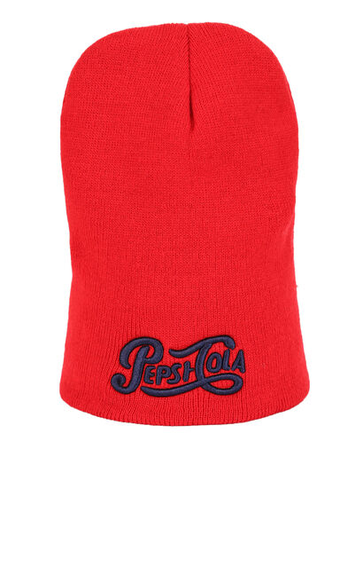 ONLY Women's Embroidered Knit Hat X Pepsi|117386515, Red, large