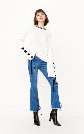 ONLY 2019 Women's Loose Fit Long-sleeved Knit Pullover |118113512