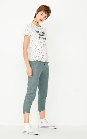 ONLY2019 Women's Early Autumn Linen Special Cuffs Casual Crop Pants |11736J517
