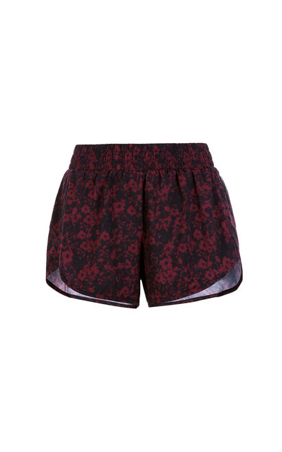 ONLY PLAY Women's Summer Floral Shorts|117415502, Red, large