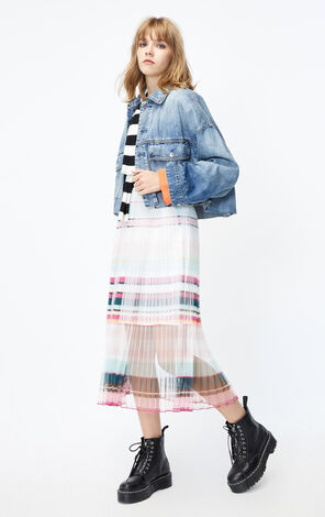 ONLY 2019 AutumnWomen's Loose Fit Piled Loop Denim Jacket|119354512