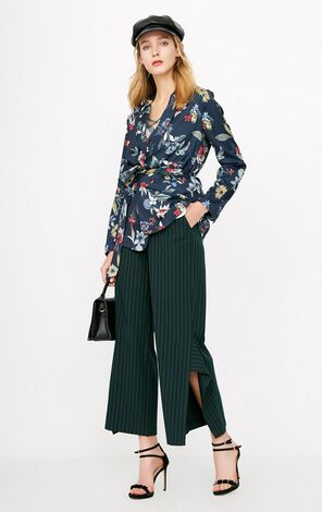 ONLY2019 women's spring new print loose tie suit jacket | 118108541