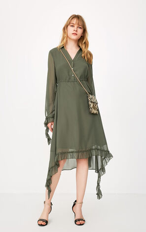 Only 2019 Ruffled Chiffon Dress |118107606