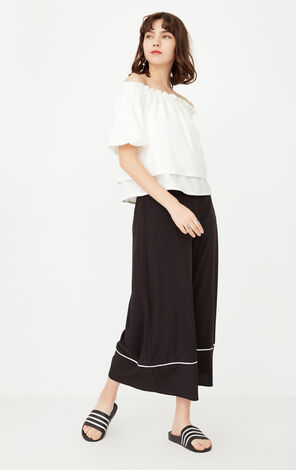 ONLY Spring New Women's Two-piece Boat Neck Wide-leg Pants|117244508