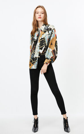 ONLY 2019 AutumnWomen's Loose Fit Long-sleeved Chiffon Shirt|119305512