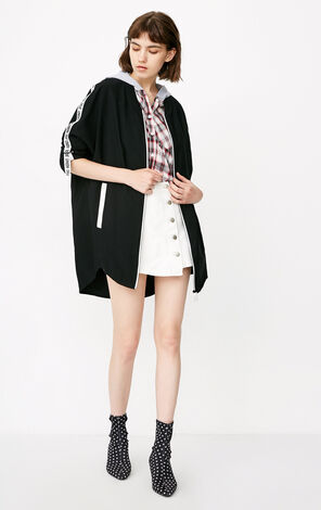 ONLY 2018 autumn new letter ribbon trenchcoat jacket| 118336514