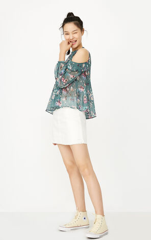 REPEAT ESTHER WOVEN TOP 34(LOVE)