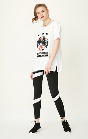 ONLY Summer Women's Ripped Print 3D Letters T-shirt|117201539