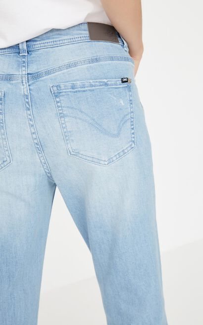 ONLY summer new style frayed low-rise nine-point straight jeans women | 117349509, Blue, large