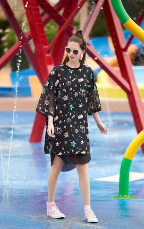 ONLY Summer Two-piece Floral Chiffon Dress |117307591