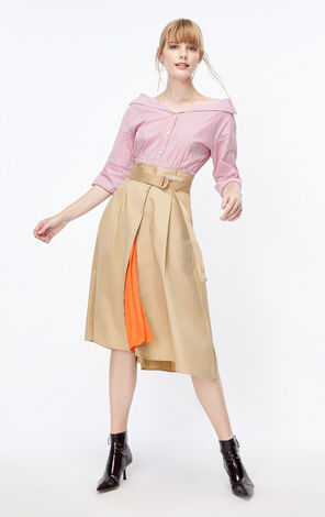 ONLY 2019 AutumnHigh-rise A-lined Skirt|119316512