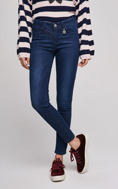 ONLY Women's Spring Low-rise Slim Fit Tight-leg Jeans |117132524, Blue, large