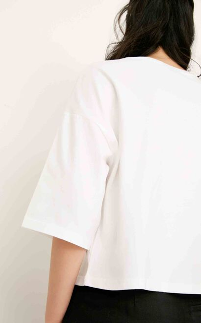 ONLY summer New Women's Loose Fit Letter Print T-shirt|117230512, White, large
