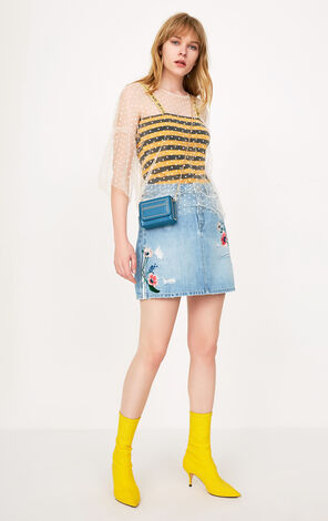 TEA HW DENIM SKIRT