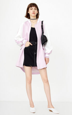 ONLY  2018 winter women's  new embroidered short-long coat | 118336521