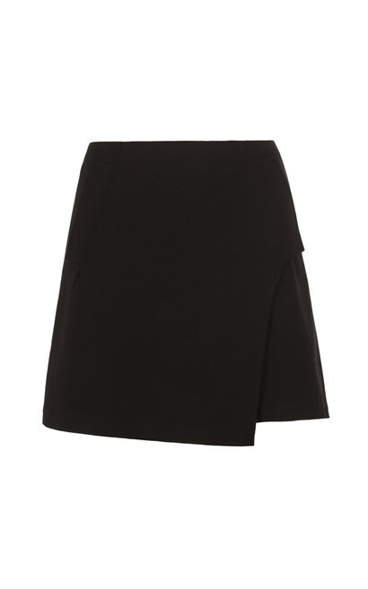 ONLY2019 Summer Spliced Slits A-line Skirt E|11731G502, Black, large