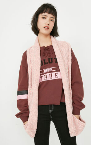 ONLY Women's Autumn Pink Rolled Knit Scarf |11746G502