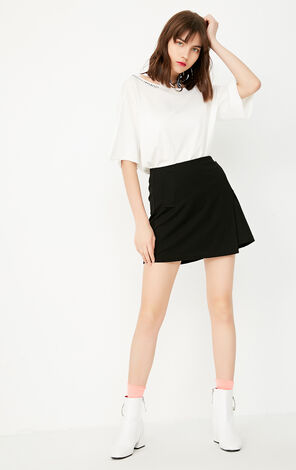 ONLY2019 Summer Spliced Slits A-line Skirt E|11731G502