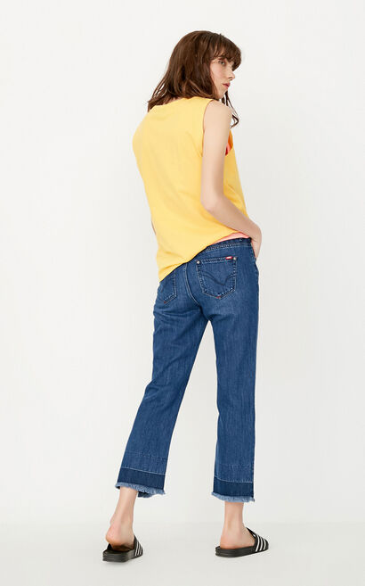 ONLY Women's Summer Raw-edge Crop Flared Jeans |117249535, Blue, large
