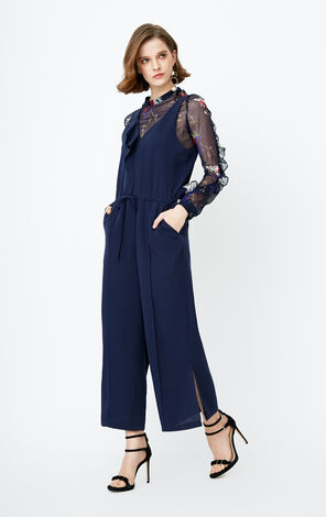 ONLY 2019 Women's Summer Chiffon Lace-up Two-piece Jumpsuit |118144508