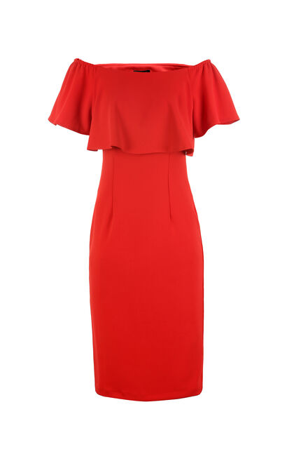 REPEAT NEIL FITTED DRESS(LOVE), Red, large