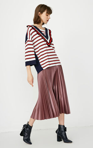 ONLY 2018 Women's Winter Striped 3/4 Sleeves Knit Sweater  118124551