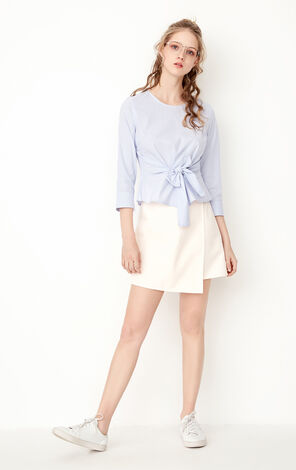 ONLY Women's Summer 3/4 Sleeves Lace-up Shirt  117358501
