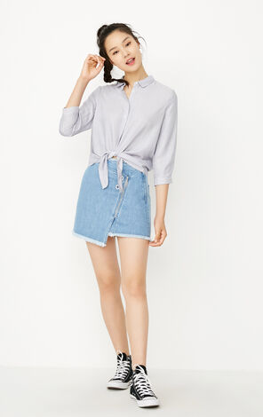 REPEAT13 BLUE LOOSE SHIRT(LOVE)