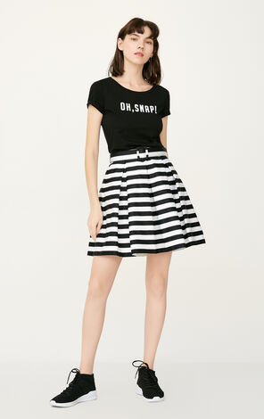 ONLY Spring Striped A-line Skirt|117216502