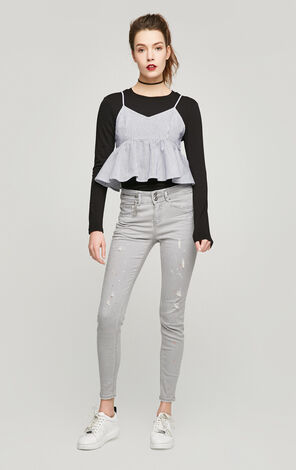 ONLY Women's Spring Slim Fit Ripped Jeans |117132532