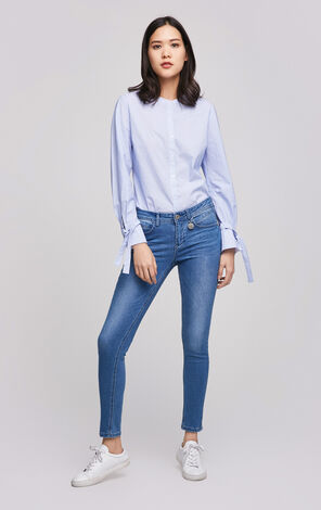 ONLY Women's Spring Low-rise Slim Fit Tight-leg Jeans |117132524