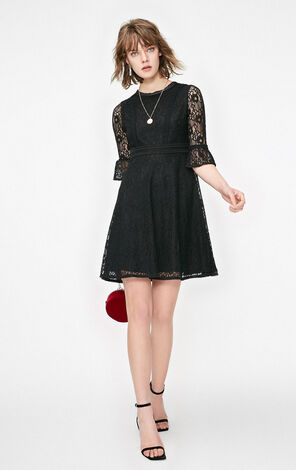 Only 2019 Black Lace Dress |119161508