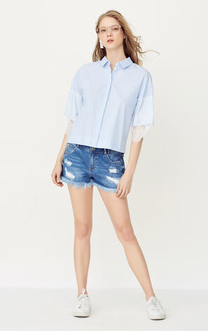 SELINA SQUARE SHIRT 34(LOVE)