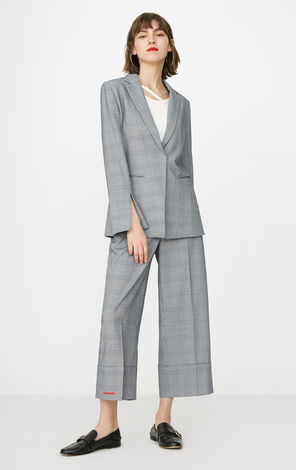 ONLY 2019 Women's Autumn Houndstooth Wide-leg Casual Pants |11816J518