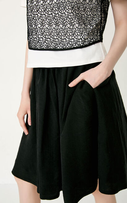 ONLY Summer Lace T-shirt Three-piece Slip Dress |117207558, Black, large