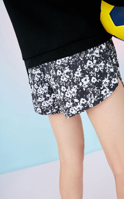 ONLY PLAY Women's Summer Floral Shorts|117415502, Grey, large