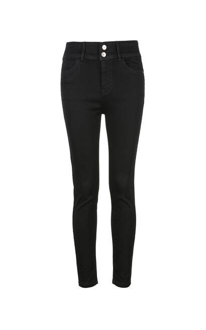 ONLY Women's 2019 Winter High-rise Lace-up Crop Jeans |118149624, Black, large
