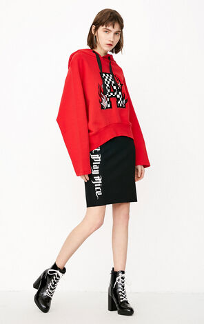 ONLY Women's Winter 2019 Loose Fit Letter Print Hoodie |11819S516