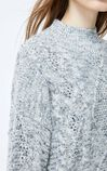 ONLY2019winterNew Two-piece Pleated Knit Dress|119446507, Light Grey, large
