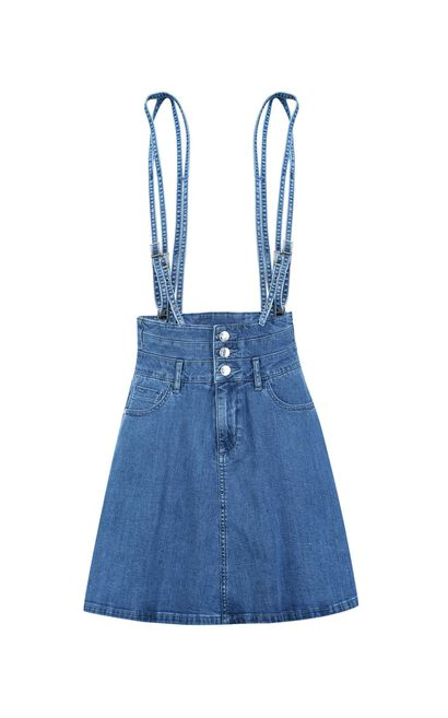ONLY Women's Spring New High-rise Lycra Denim Overalls|117237506, Blue, large