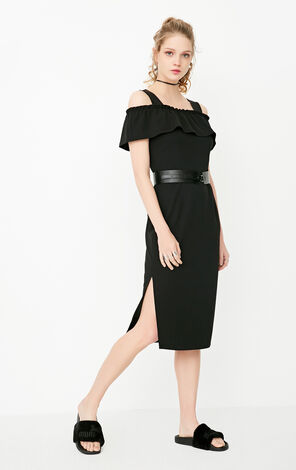 REPEAT 2 P NELLY MIDI DRESS(LOVE)
