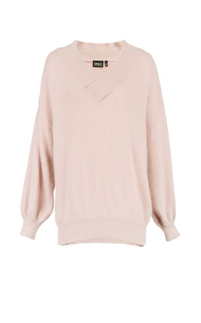 ONLY autumn new solid color V-neck pullover sweater women | 117313539, Pink, large